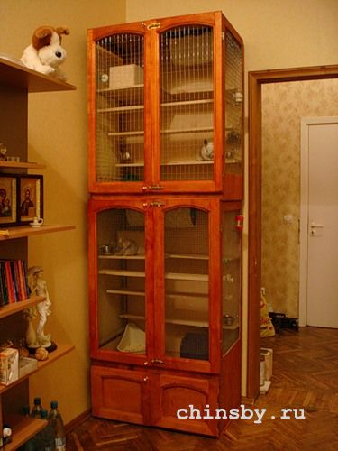 Клетка для шиншиллы из шкафа