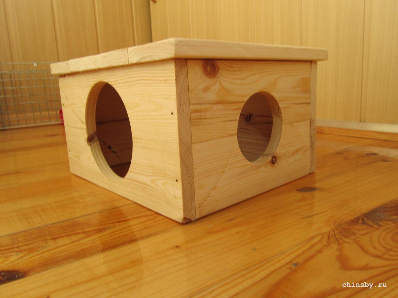 Из чего сделать домик для шиншиллы