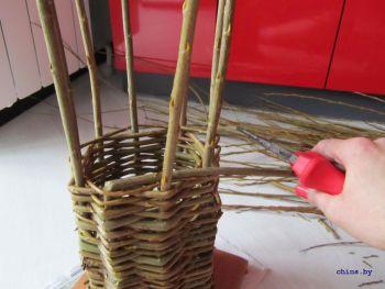 Плетение туннеля из лозы для шиншилл